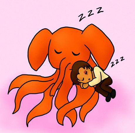 Chibi Hizruk and Octophant by Kara