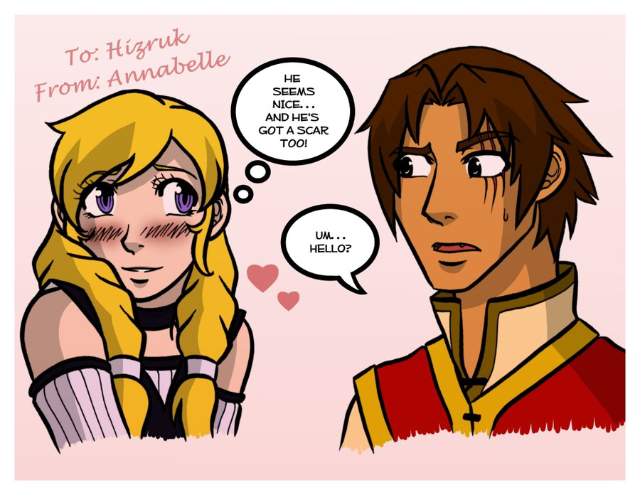 Hizruk and Annabelle by Alicia
